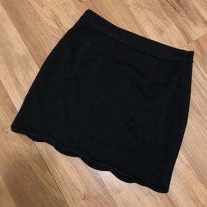 """Womens Scalloped """"Tobi"""" Black Fitted Skirt !"""